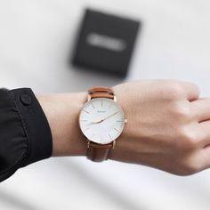 Check @brathwaitwatches made for him, fabulous for her! I stole my boyfriend's watch  #naturalleather #swissmovement #classicwatch #brathwait  @brathwaitwatches   @brathwaitwatches   @brathwaitwatches