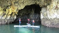 All day SUP! Learn Standup paddle boarding in Sagres and Lagos Algarve. Explore grottoes, caves and hidden beaches. Paddle down river Aljezur in the west coast!