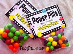 Pac Man Power Pills candy bag topper free printables