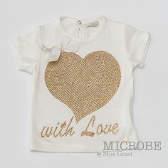 GOLDEN HEART T-SHIRT. Sale 50% off Spring&Summer Collection!