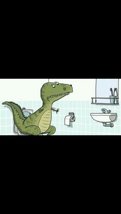 Because t-rex can't wipe his bum