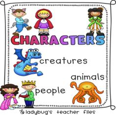 This is an awesome website about making inferences about characters with freebies you can download