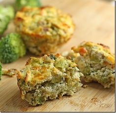 Broccoli breakfast muffins.