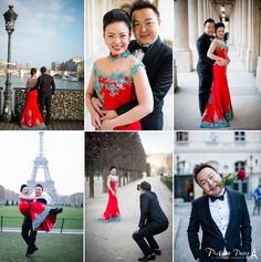 Twitter / pictoursparis: Pre-wedding photo session with a lovely couple from Singapore. Loved her Chinese wedding gown!