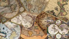 Instant Download Digital Collage Vintage Maps by PhotoAlmanac | I love maps! | Wanderlust | GO