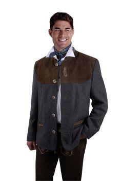 Trachtenjanker Trachtenjacke Herren Antrazith Grau Schwarz Trachtenblazer in Kleidung & Accessoires, Herrenmode, Trachtenmode   eBay