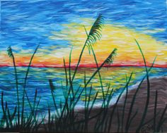 Sea Dunes from Vino's Picasso Acrylic Canvas, Canvas Art, Canvas Ideas, Acrylic Painting Inspiration, Pictures To Paint, Painting Pictures, Paint And Sip, Dog Paws, Paint Party
