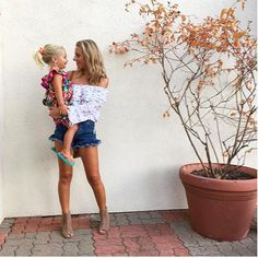My Instagram - Jaclyn De Leon Style | ruffle denim shorts with bohemian style top | mommy and me | casual summer outfit inspiration | street style | mom style | #momlife