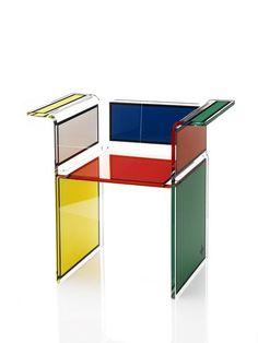 Tendance Déco : Mondrian - MyHomeDesign Fauteuil Jean-Charles de Castelbajac Beau-haus blanc pour Acrila