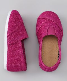 Take a look at this Pink Glitter Shoe by Mariposa on #zulily today!