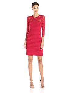 Adrianna Papell Women's 3/4 Sleeve Banded Sheath Dress - http://darrenblogs.com/2015/11/adrianna-papell-womens-34-sleeve-banded-sheath-dress/