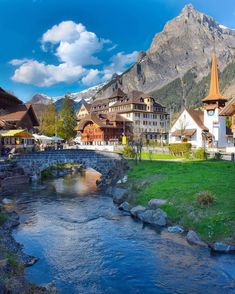 (: Happy Birthday Kandersteg village, Canton of Bern to be featured Beautiful Places To Travel, Wonderful Places, Beautiful World, Places Around The World, Oh The Places You'll Go, Switzerland Vacation, Belle Photo, Dream Vacations, Vacation Spots