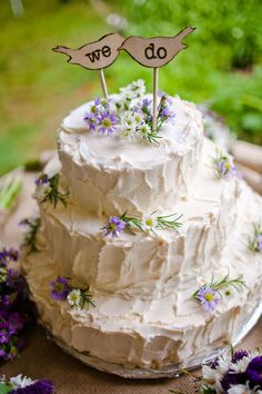 Adorable wedding cak