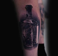 60 Ship In A Bottle Tattoo Designs For Men