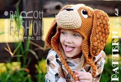 NEW PATTERN CoCo the Spaniel Hat Crochet by IRAROTTpatterns, $6.50