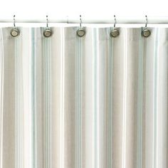 I own and love this shower curtain | Shower Curtain | SONOMA life + style Tiburon Striped Fabric Shower Curtain | kohls.com