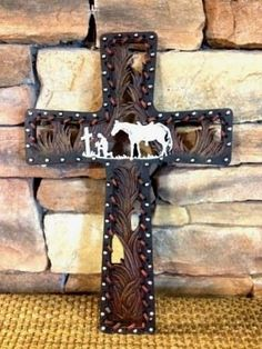 RAINBOW TRADING.  Praying Cowboy Wall Cross