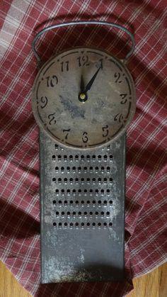 Evolution Of The Kitchen Clock - Good Foodi Guide Vintage Clocks, Vintage Antiques, Clock Work, Kitchen Clocks, Clock Ideas, Cool Clocks, Cheese Grater, Antique Desk, Cottage Living