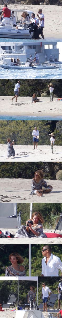Beyonce, Jay Z & Blue Ivy celebrating her 33RD birthday in Corsica,France (Sept. 4th, 2014