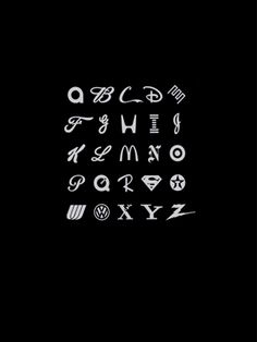 Brand logos alphabet which letter is which logo? Ill do it home day with more time