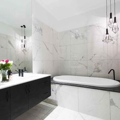 art deco bathroom with a modern twist