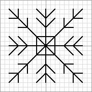 Twinchy Snowflake 1, designed by @jan issues Wilke Perry (Napa Needlepoint), Nuts About Needlepoint blogger. This snowflake pattern was used in @Lesley Howard Howard Bousbaine, tintocktap blogger's Snowflakes in the Snow 15-sided biscornu.