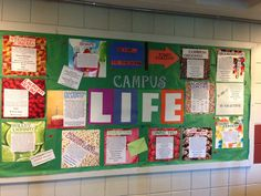 My very first bulletin board. Turned out much better than expected and got staff…