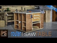Home made router table & table saw cabinet / Fresadora- Circular de mesa Homemade Router Table, Homemade Tables, Compact Circular Saw, Best Circular Saw, Jet Woodworking Tools, Woodworking Projects, Wood Router Table, Cierra Circular, Router Saw