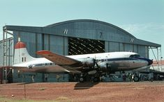 In 1966 no. procured a number of Skymasters from the South African Airways. The original SAA livery was retained to which red ID panels and the SAAF's castle insignia were added. Douglas Dc 4, South African Air Force, Korean War, Fighter Jets, Aviation, Aircraft, Military, Classic, Airplanes