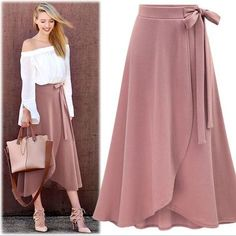 High Waisted Wrap Skirt Skirts Daisy Dress For Less 24 Easy Sytish Ways to Recreate Sequin Skirt Outfits Skirt Outfits, Dress Skirt, Dress Up, Maxi Skirts, Jean Skirts, Denim Skirts, Casual Skirts, Modest Outfits, Belted Dress