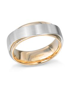 c3aeabfe4520b Matte finish platinum and 18 karat rose gold ring in a design. wide with a  comfort fit.