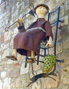 Letreiro de ferro para vinícola