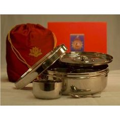 Indian Spice Box, Masala Dabba Stainless Steel Organizer To Store Spices by Ajika (a gourmet international food gift) by Ajika - $59.00