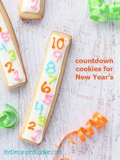 New Year's Eve countdown cookie sticks