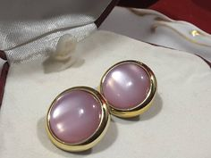 Button Earrings, Etsy Earrings, Pearl Earrings, Treasure Chest, Pretty In Pink, Gemstone Rings, Campaign, Buttons, Content