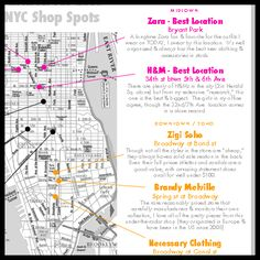 NYC shop spots :) // this may come in handy one day...