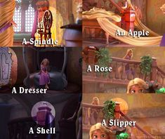 Did you know that the other princesses are represented as symbols in Tangled?-Awesome!!