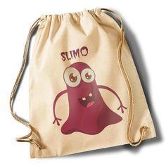 """""""Monster Slimo"""" Cotton Gymsack von MAD IN BERLIN auf DaWanda.com"""