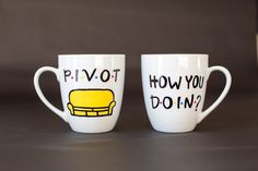 F•R•I•E•N•D•S TV Show Mugs by TooLegitTooKnit on Etsy https://www.etsy.com/listing/189751866/friends-tv-show-mugs