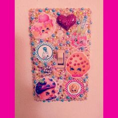 Shopkins bling light switch cover!  Search for Paiges Infinite Bling on facebook, instagram, and etsy!