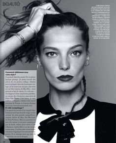 Daria Werbowy for Marie Claire France