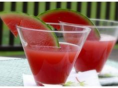 Watermelon Daiquiri. I will be drinking these by the pool this weekend.