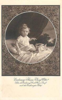Archiduc Otto de Habsbourg-Lorraine (1912-2011) fils de l'empereur Charles 1er et de l'impératrice Zita