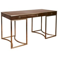 1960's Desk by Guy Lefebvre for Jansen   From a unique collection of antique and modern desks and writing tables at http://www.1stdibs.com/furniture/tables/desks-writing-tables/