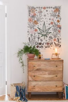 decor urban Urban Outfitters Grow Your Own Way Tapestry Slide View: Grow Your Own Way Tapestry Do It Yourself Inspiration, Room Inspiration, Tapestry Bedroom, Wall Tapestry, My New Room, My Room, Hippy Room, Bedroom Decor, Wall Decor