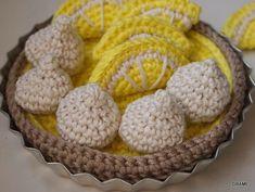 Une tarte au citron meringuée, dinette, crochet, diy, grame