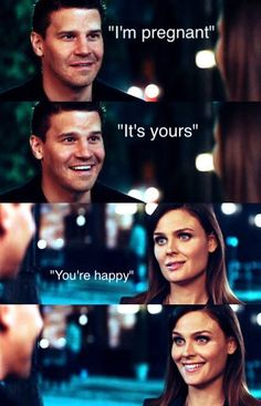 When Bones tells Booth she's pregnant, I love the way they smile at each other. One of the best episodes Best Tv Shows, Best Shows Ever, Movies And Tv Shows, Favorite Tv Shows, Booth And Bones, Booth And Brennan, Bones Tv Series, Bones Tv Show, Goddess Of The Underworld