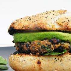 Tinned Tomatoes: Cajun Spiced Black Bean and Sweet Potato Burgers Burger Recipes, Veggie Recipes, Vegetarian Recipes, Cooking Recipes, Healthy Recipes, Yummy Recipes, Recipies, Vegan Recepies, Cajun Cooking