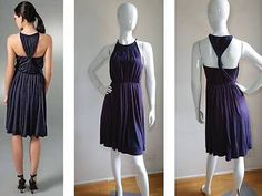 MINT by JODI ARNOLD ~FEMME RACERBACK~ DOUBLE-LAYER EASY JERSEY DRESS $365 4