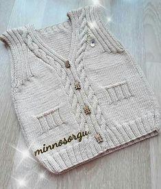Knit Vest, Baby Knitting, Sweaters, Babies, Fashion, Baby Vest, Blade, Balcony, Moda
